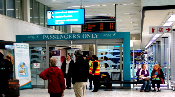 passengers only point at Cape Town International Airport