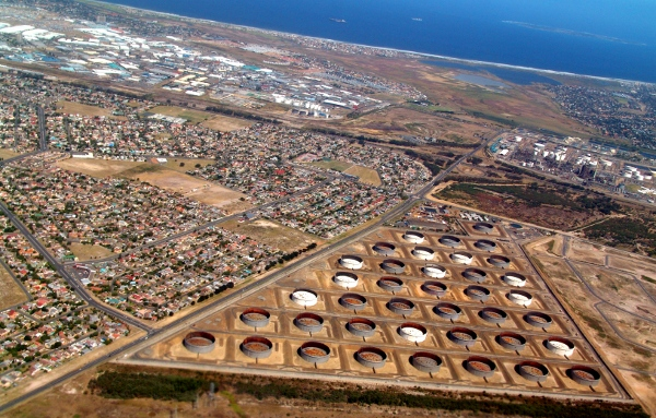 Caltex Oil Refinery storage tanks