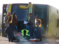 SA Roadlink bus which crashed outside Beaufort West