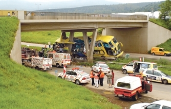 SA Roadlink bus crashes in Pietermartizburg