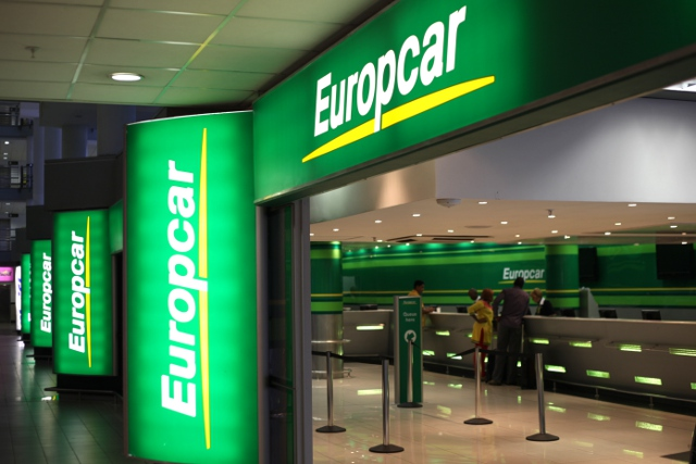 Europcar offices at O.R. Tambo International Airport in Johannesburg