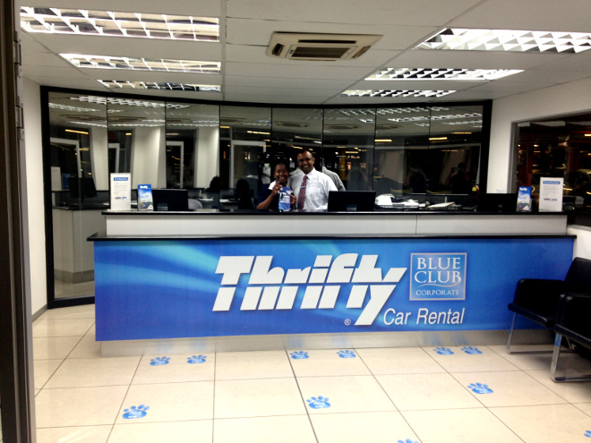 Thrifty Car Rental at OR Tambo International Airport (JNB)