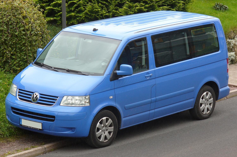 Blue Volkswagen Kombi T5