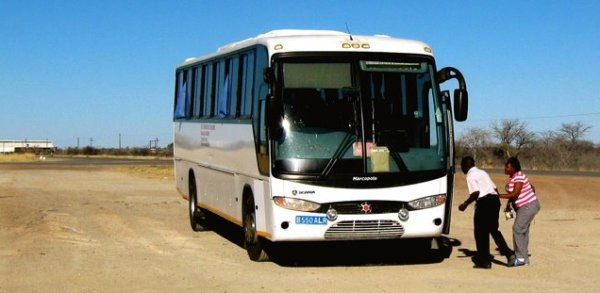bus from Gaborone to Windhoek