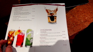 Cocktail Menu On The Msc Sinfonia