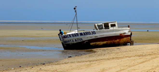 Boat on Inhaca, Mozambique