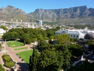Table Mountain and Company Gardens