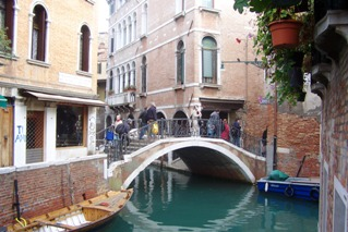 Venice, side canal