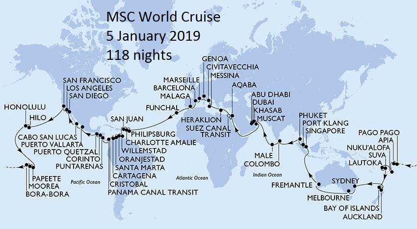 Msc Cruises In South Africa 2018 2019
