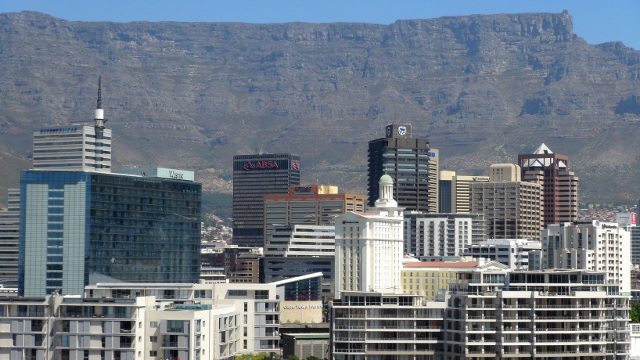 Cape Town city with Table Mountain in the background