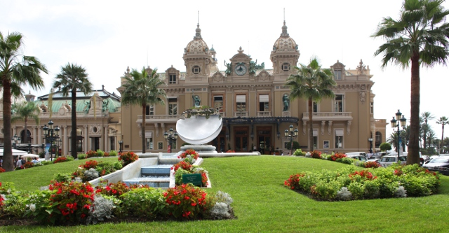 gardens in front of Casino Monte Carlo
