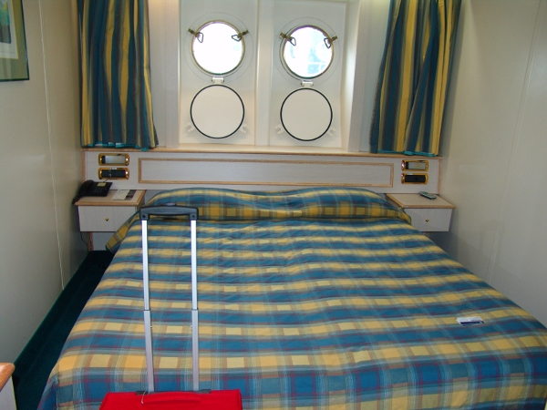 bed in a Superior Oceanview cabin on the Rhapsody