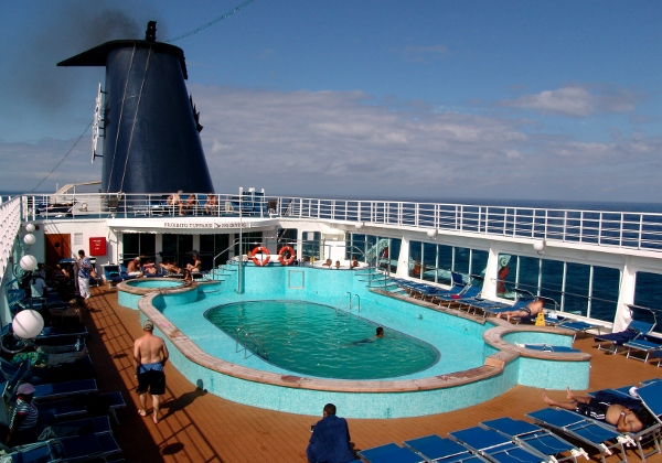 the pool aboard the Rhapsody