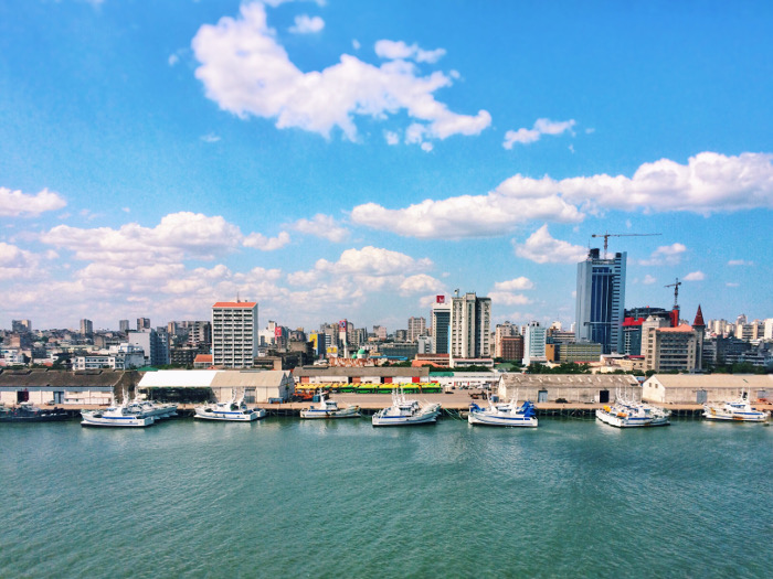 Maputo skyline and harbour