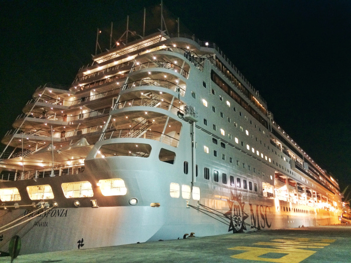MSC Sinfonia at night