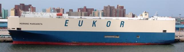 Eukor Morning Margareta moored in Durban harbour