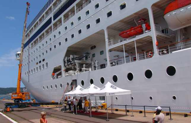MSC Sinfonia cruise ship in South Africa