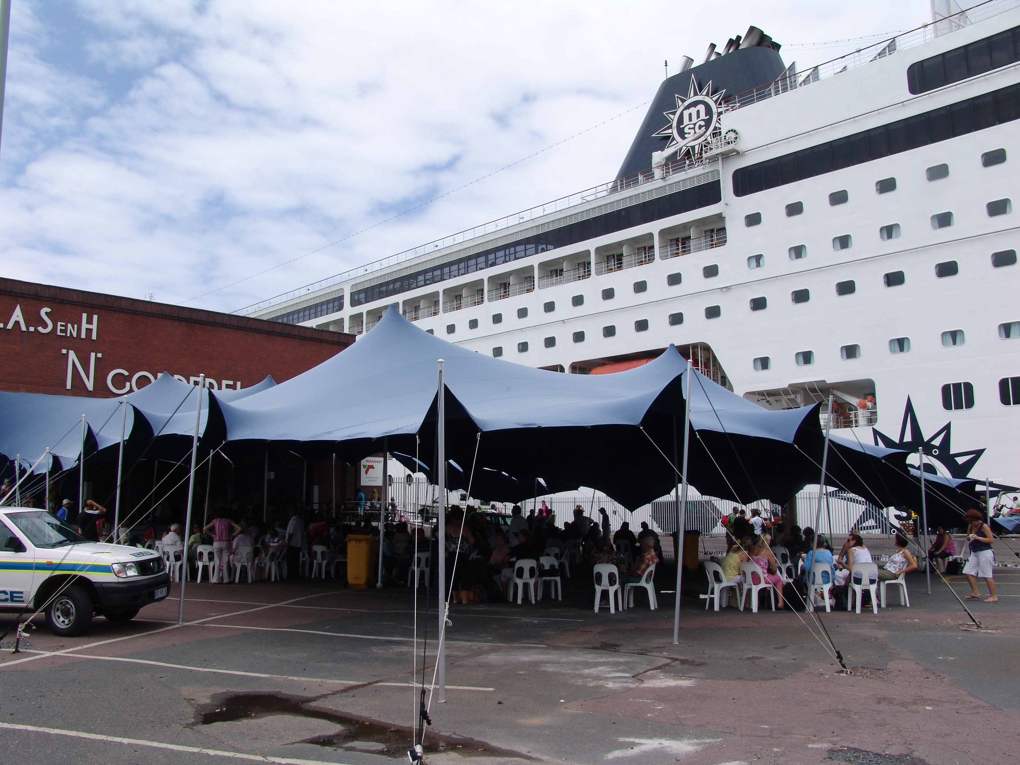 Boarding The Sinfonia In Durban Harbour