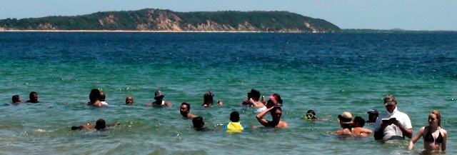 swimming at Portuguese Island, Mozambique