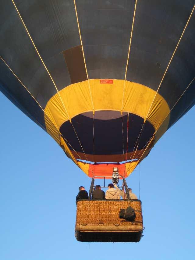 Hot air balloon in Cape Town