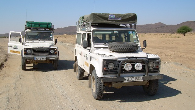 Landrovers in Southern Africa
