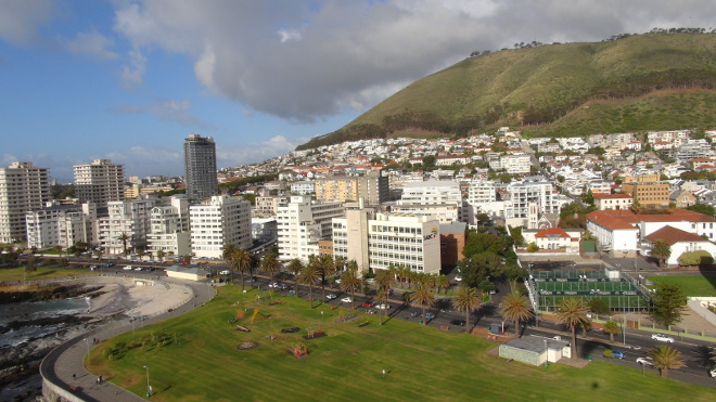 Sea Point from above