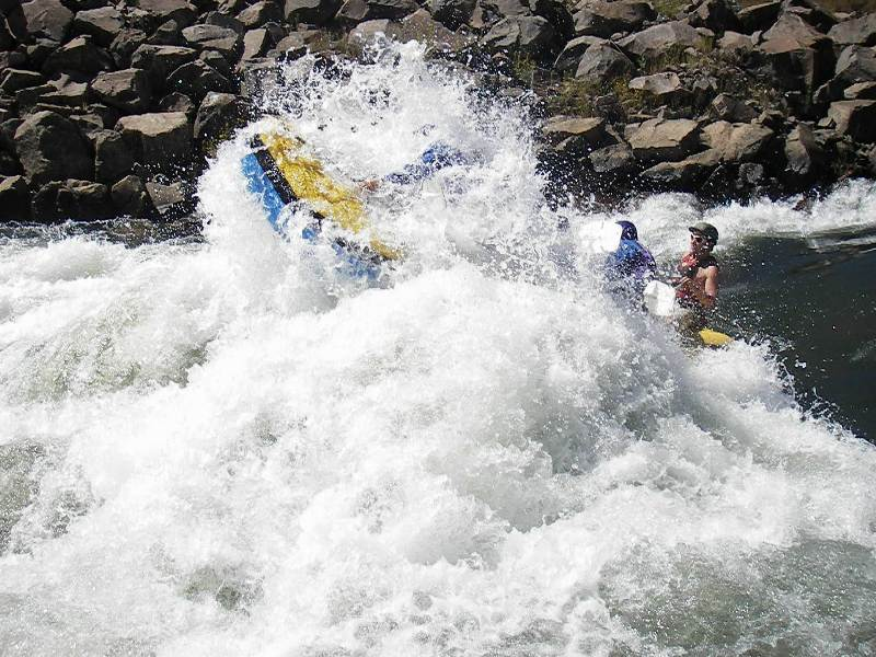 white water rafting on the Ash River near Clarens
