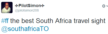 Best South Africa Travel Site Tweet