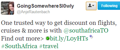 Trusted way to get discounts on flights - tweet