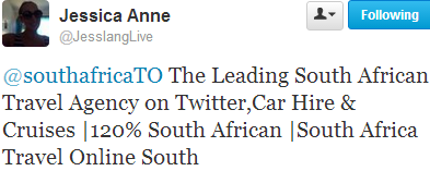 Leading South African Travel Agency on Twitter