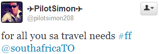 Pilot Simons say to follow South Africa Travel Online for all your SA travel needs.