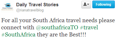 For all your South Africa travel needs please connect with South Africa Travel Online - they are the best