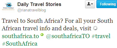 For all your South African travel info & deals, visit SouthAfrica.TO (Tweet)
