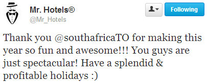 Thank You South Africa Travel Online
