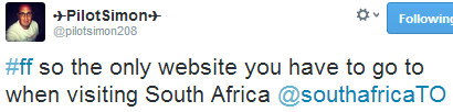 the only website you have to go to when visiting South Africa, tweet
